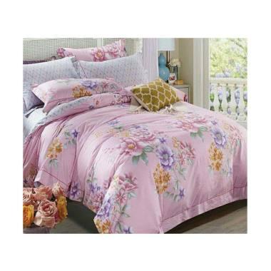 Melia Bedsheet J-4016 Katun Jepang Set Sprei -  Floral Print