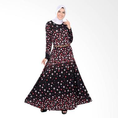 Jfashion Violin Dot Long Dress Gami ... an panjang Wanita - Merah