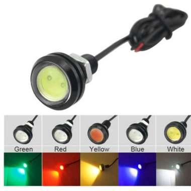harga Dijual Lampu LED Mata Elang Eagle Eye 12V 23mm VariasiAksesoris Motor Mobil - Putih Berkualitas Blibli.com