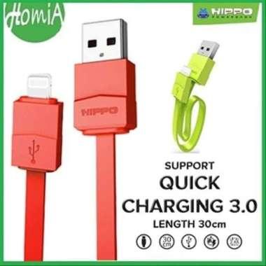 Promo kabel powerbank pendenkkabel data usb hippo lica 2.4A 30cm iph Q.C3.0 Limited