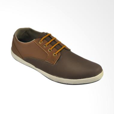 CBR Six Sepatu Kasual Pria - Coklat [SDC 001]