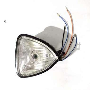 harga Headlamp triangle crome lampu depan segitiga custom CB japstyle - Putih Multicolor Blibli.com