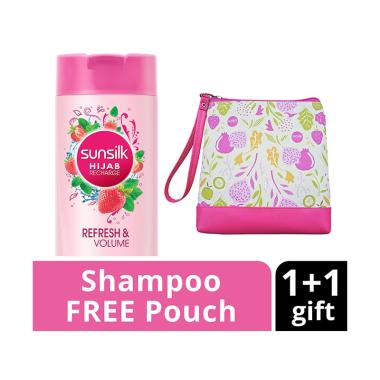 SUNSILK Hijab Refresh & Volume Shampoo [340 mL] + Free Pouch