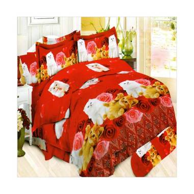 Bonita Batik Persia Set Sprei - Red [180 x 200 cm]