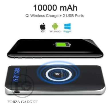 Unik PB Powerbank Power Bank Qi Wireless Charging 2 Port 10000mAh Berkualitas