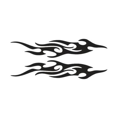 IIT Car Styling Flame Pattern Reflective Sticker Ant...