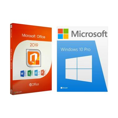 Microsoft Windows 10 Pro & Office 2019 Paket Software [Original/ Ritail  Lifetime]