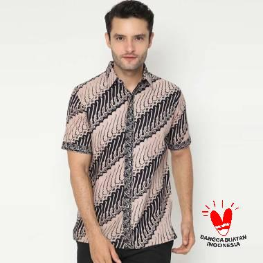 harga Benangsari Surya Shirt Batik Pria Coklat Blibli.com