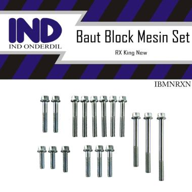 harga IND IBMNRXK Set Baut Block Mesin Motor for Yamaha RX King or RXK New Tahun 2002-2008 [Kunci T/ Ukuran 8] Blibli.com