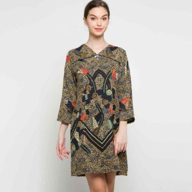 Batik Arjunaweda 28656129 Gentongan Sackdress Dress Wanita - Biru