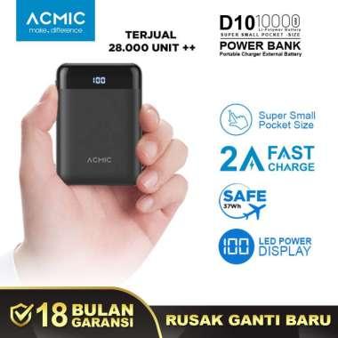 ACMIC D10 Mini PowerBank [10000 mAh/ Digital Display + 2A Fast Charge]