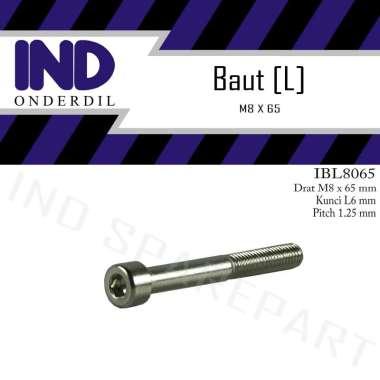 harga IND Onderdil Bolt L6 M8x65 Kunci K 6 P-Pitch 1.25 Baut L Blibli.com