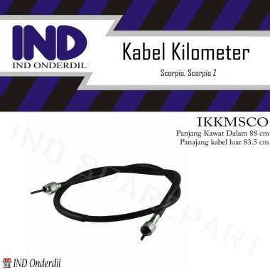 harga IND Onderdil  Kabel Tali Kawat Kilometer Speedometer for Scorpio & Scorpio Z HItam Blibli.com