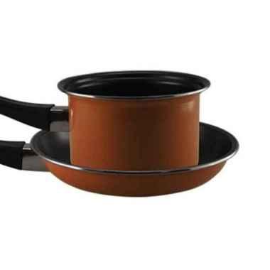 harga Maspion Pastella Anti Lengket Frypan 20 cm Milkpan 14 cm Wajan ORANGE Blibli.com