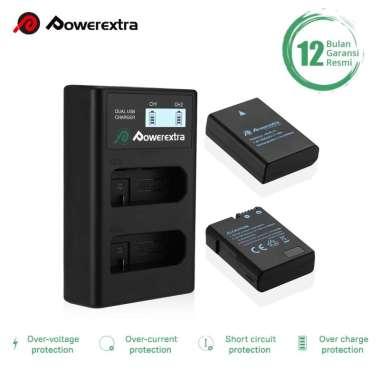 harga Baterai Powerextra Nikon EN-EL14 EN-EL14a 2-Pack Dual Charger LCD Kit Blibli.com
