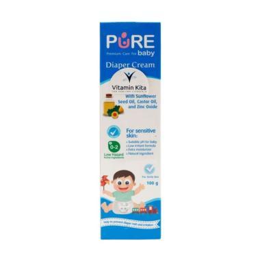 harga Pure Baby Diapers Cream Krim Anti Ruam Popok Bayi [100 g] Blibli.com