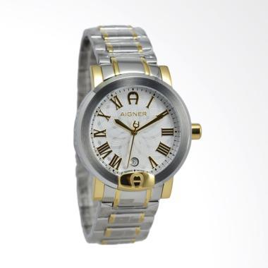 Aigner Treviglio Jam Tangan Pria - Silver Gold A103110