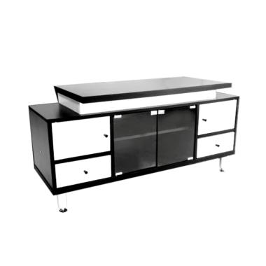 MD Furniture Minimalis Rak TV - White Black