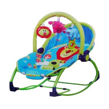 Pliko Bouncer Rocking Chair Hammock Tempat Tidur Bayi - Blue