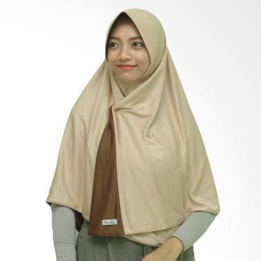 Pricilla Bolak-Balik Dua Hijab Instan - Coco Cream