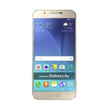 Samsung Galaxy A8 SM-A800 Smartphone - Gold [32 GB/ 2 GB]