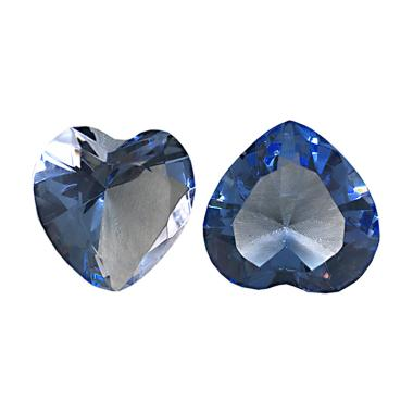 Eztu Diamond Heart Kerajinan Tangan - Blue