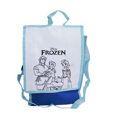 Unique Drawing Frozen Spunbag - Biru Tosca