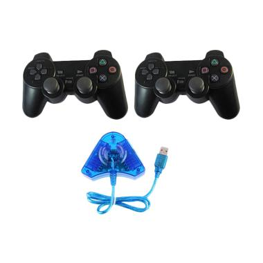 SP Games Converter Stick Blue Doubl ...  + 2 Stick PS2-Black Blue
