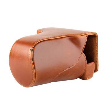 Leather Case untuk Kamera Mirrorless Canon EOS M3 - Coklat