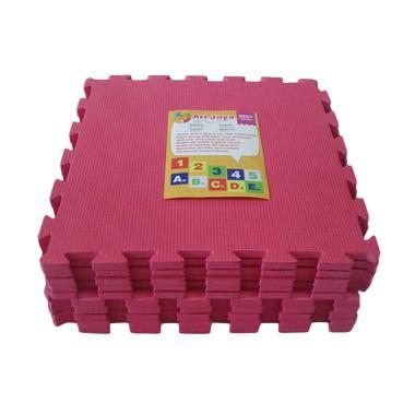 Ari Jaya Polos Karpet Puzzle - Pink [10 Pcs]