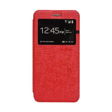 Delkin Flip Cover Casing for Android One X - Merah