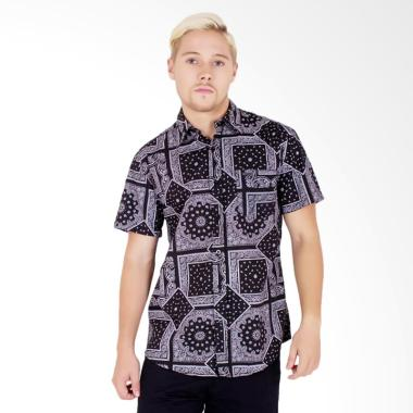 Palm Lagoon Nevada Print Shirt Pria - Black