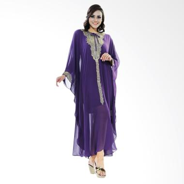 Azzura 505-25 Long Dress Muslim Wanita - Ungu