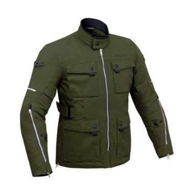 Contin Porjo Casual Jaket Motor - Army Green