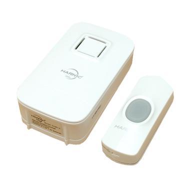 HELES 061K Wireless Alarm Bel Rumah - Putih [1 tombol]