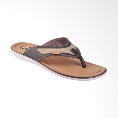 Carvil Coross Sandal Casual Pria - Dark Brown 711M