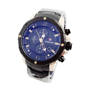 Swiss Army S64110 Jam Tangan Pria - Black Gold