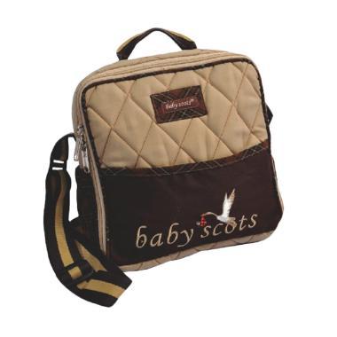Baby Scots Bordir Kecil Tas Bayi ISESB012 - Cokelat