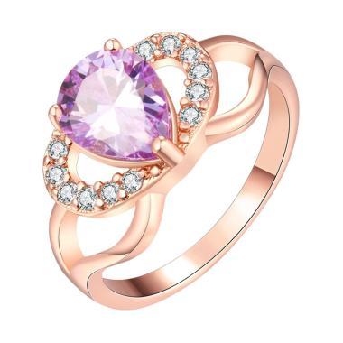 Bella & Co Ring KZCR240-7 Aksesoris Cincin Lapis Emas