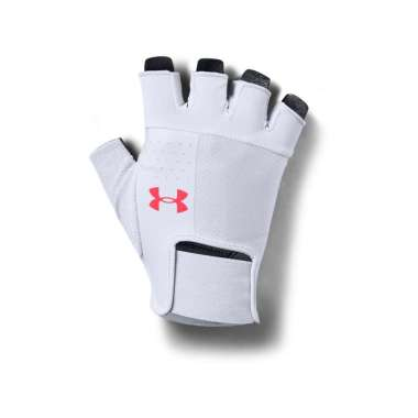 Under Armour Men's  Training Gloves-Halo Gray - Black - Beta Red S