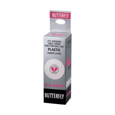 Butterfly Table Tennis G40+ Bintang Tiga Bola Tenis Meja [Isi 3]