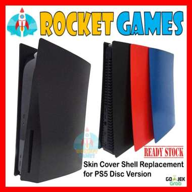 harga Rocket Games - Face Plate Skin Shell Case Cover Replacement for PS5 Casing BLACK Blibli.com