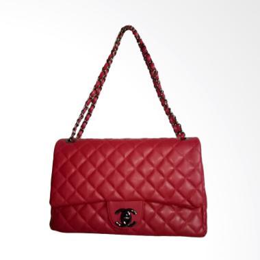 harga Chanel Maxi Tas Selempang Wanita - Red Blibli.com
