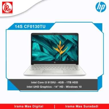 harga HP 14s CF0130TU Intel Core i3 8130U 4GB 1TB HDD SILVER Blibli.com