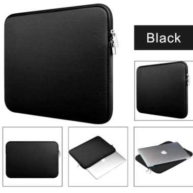harga SCL02 Softcase Laptop Notebook 14 inchi Zipper Polos black Blibli.com