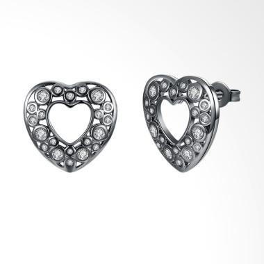 SOXY LKN18KRGPE1218 Romantic Heart Shaped Ms. New Earrings Wanita