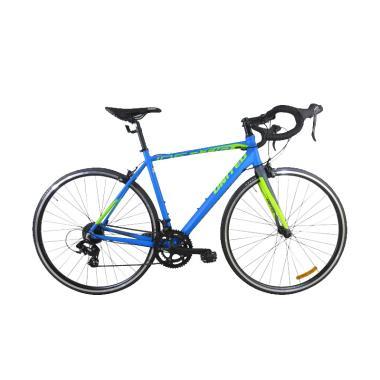 United 700C Inertia 1.00 Sepeda Roadbike - Blue Green