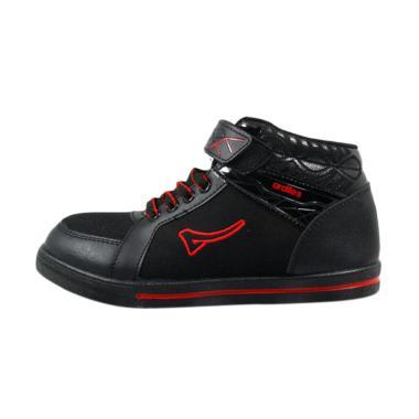 Ardiles Muse Sepatu Sekolah Anak - Hitam Merah