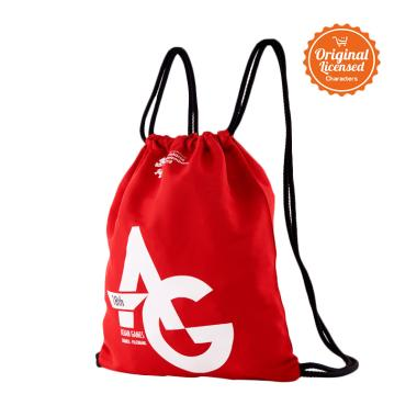 Asian Games 2018 Drawstring Backpack - Red