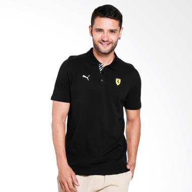 PUMA Men's Polo Shirt Ferrari SF Pa ...  Pria - Black [762387 02]
